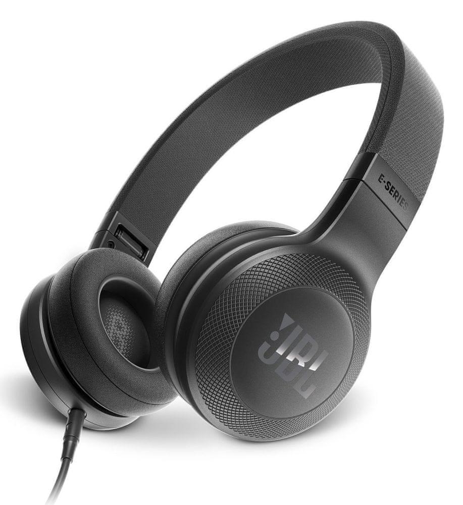 JBL E35 sluchátka s mikrofonem, černá