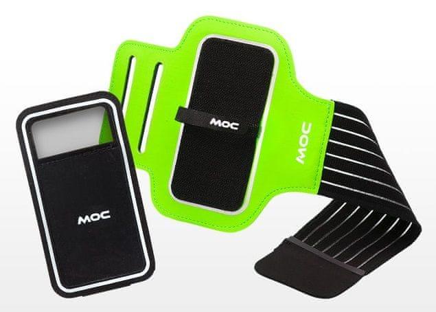 MOC, Sportovní pouzdro na paži se suchým zipem, XL, zelená