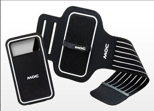 MOC, Sportovní pouzdro na paži se suchým zipem, XXL, černá
