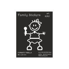nalepka Family BabyGirl 9x12cm (6262)