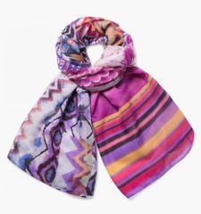 Desigual chusta damska wielokolorowy Rectangle Ethnic Dye