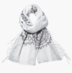 Desigual chusta damska biały Rectangle White Silve