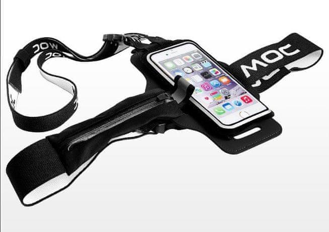 MOC, Sportovní pouzdro na pás a krk, XL, černá