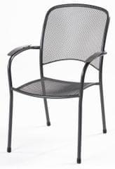 RIWALL Carlo - designová stohovatelná židle z tahokovu, tmavě šedá