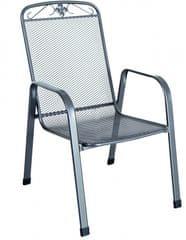 RIWALL Savoy - stohovatelná židle z tahokovu, tmavě šedá