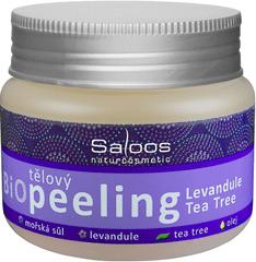 Saloos Bio tělový peeling Levandule - Tea Tree 140 ml