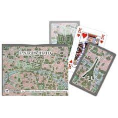 Piatnik Párizs térképe 1910-ben römi kártya