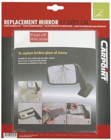set za popravilo ogledala 17,5x25 cm