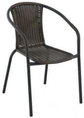 RIWALL Pikolo - kovová stohovatelná židle s ratanem