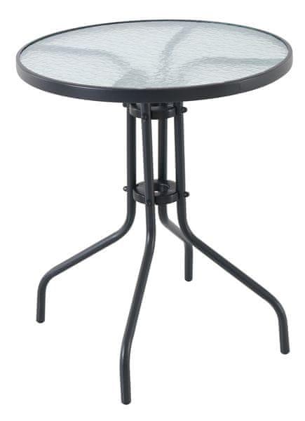 RIWALL Pikolo Round - kovový stůl se skleněnou deskou