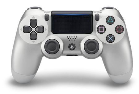 SONY gamepad PS4 DualShock 4 srebrny V2