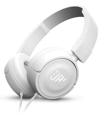 JBL slušalke T450, bele