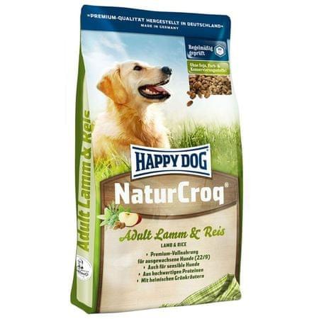 Happy Dog suha hrana za odrasle pse NaturCroq, jagnjetina in riž, 15 kg