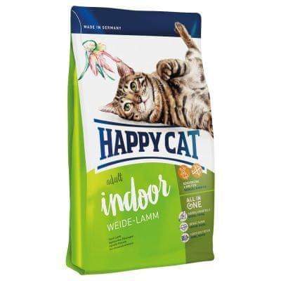 Happy Cat suha hrana za odrasle mačke Indoor, pašna jagnjetina, 10 kg
