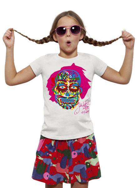 KlokArt dívčí tričko Mini Stella Draws 110 bílá