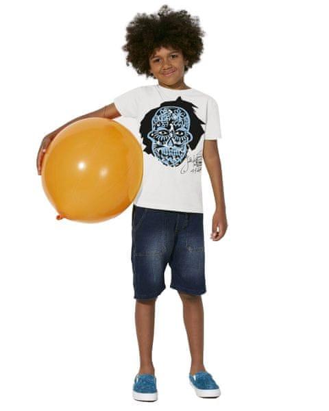 KlokArt chlapecké tričko Mini Stella Draws 110 bílá