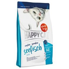 Happy Cat suha hrana za odrasle mačke Sensitive Grainfree, morske ribe, 4 kg