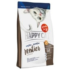 Happy Cat suha hrana za odrasle mačke Sensitive Grainfree, jelen, 4 kg