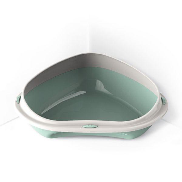 Argi Rohová toaleta s vysokým okrajem 49 x 40 x 17,5 cm zelená