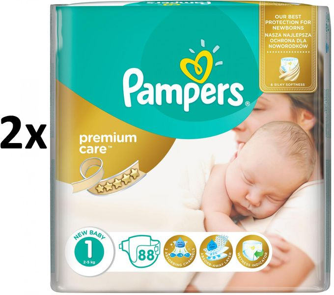 Pampers Pleny PremiumCare 1 Newborn - 176 ks