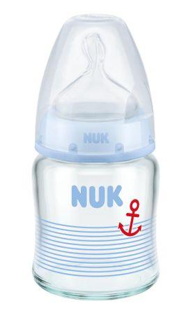 Nuk FC+ láhev sklo 120ml, S, V1-M - modrá