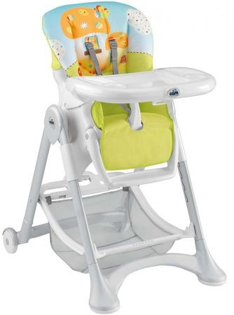 CAM stolček za hranjenje Campione, oranžno-siva
