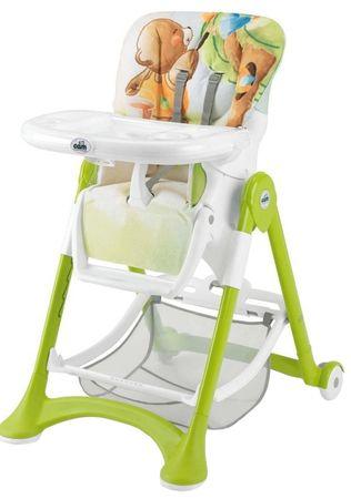 CAM stolček za hranjenje Campione, sivo-zelena