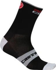 Castelli moške nogavice Rosso Corsa 6, črne