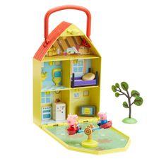 TM Toys Świnka Peppa Otwierany Domek i Ogródek 2 figurki 06156