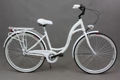 """Goetze rower miejski 28"""" 3B 18"""" biały + kosz - allegro"""