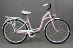 """Goetze rower miejski Shabby różowy 18"""" + kosz"""