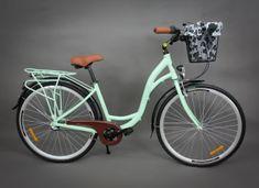 """Goetze rower miejski Route pistacja 18"""" + kosz z wkładem"""