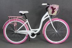 Goetze rower miejski Colours biało-różowy