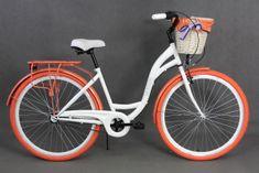 Goetze rower miejski Colours biało-pomarańczowy - allegro