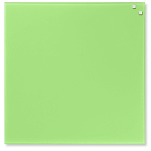 Skleněná magnetická tabule NAGA světle zelená 45x45 cm