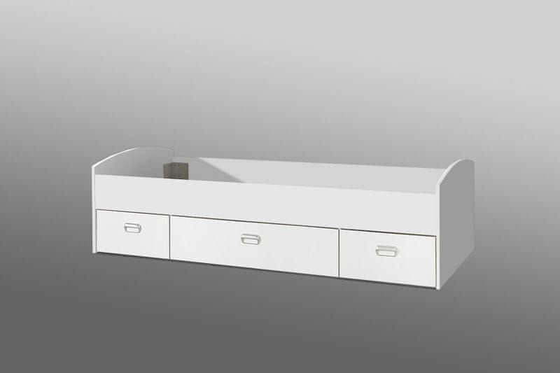 MIA postel 90x200 cm, bílá