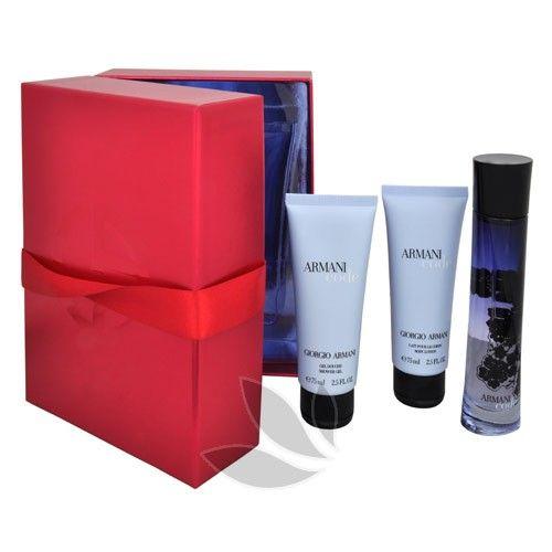 Giorgio Armani Code For Women - parfémová voda s rozprašovačem 50 ml + sprchový gel 75 ml + tělové mléko 75 ml