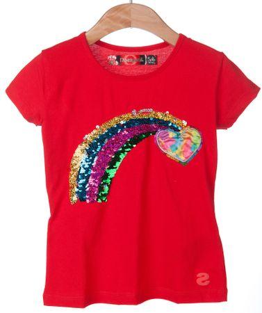 Desigual dekliška majica Kentucky 152 rdeča