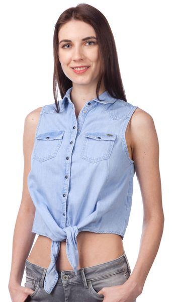 Pepe Jeans dámská halenka Binx L modrá