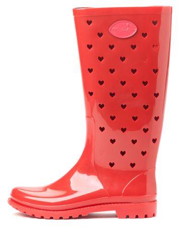 Mei ženski gumijasti škornji La Small Hearts 37 rdeča