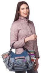 Desigual ženska torbica plava Rotterdam Exotic Jeans
