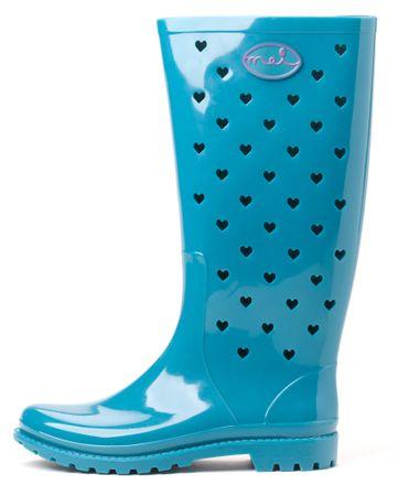 Mei ženski gumijasti škornji La Small Hearts 37 turkizna