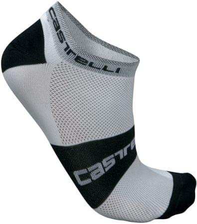 Castelli moške nogavice Lowboy, bele/črne, L/XL