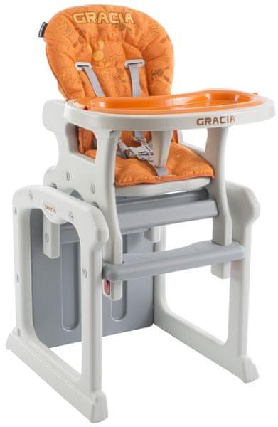 Babypoint Jídelní židlička Gracia, 2017, oranžová