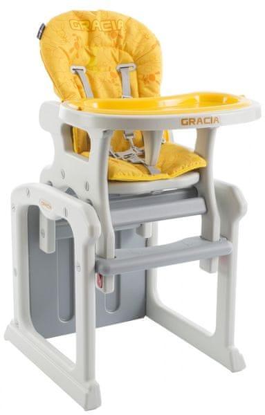 Babypoint Jídelní židlička Gracia, 2017, žlutá