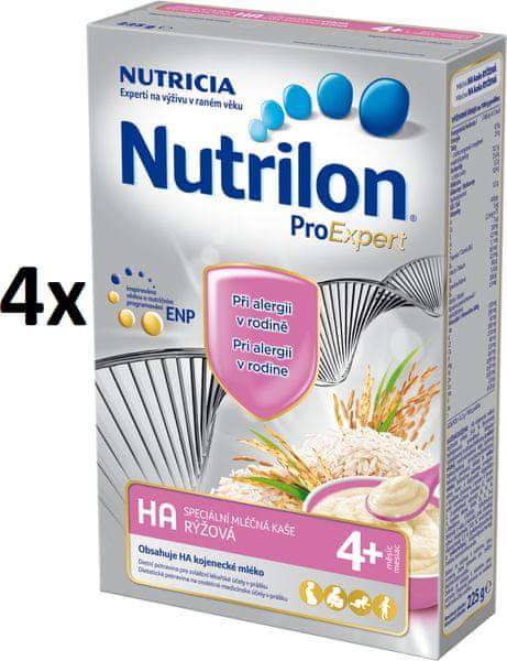 Nutrilon Mléčná HA kaše rýžová - 4 x 225g