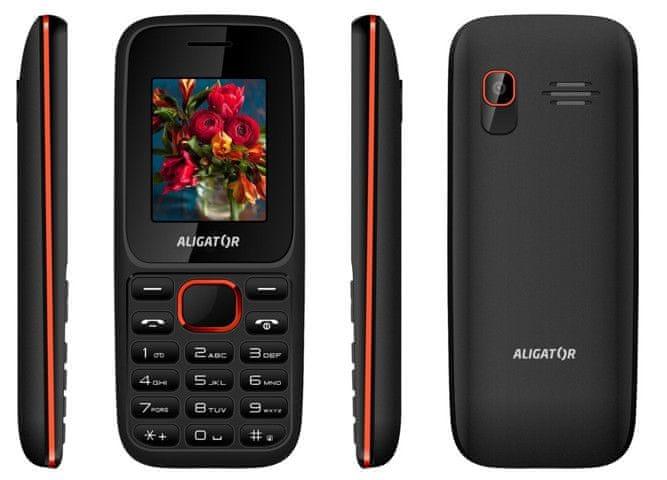 Aligator D200, Dual SIM, černo-červený