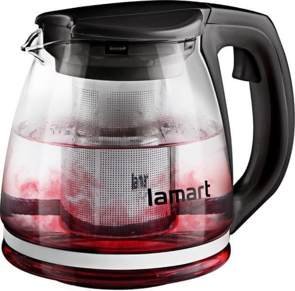 Lamart Skleněná čajová konvice 1,1 l černá