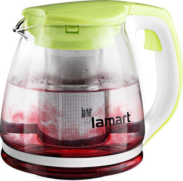 Lamart Skleněná čajová konvice 1,1 l zelená