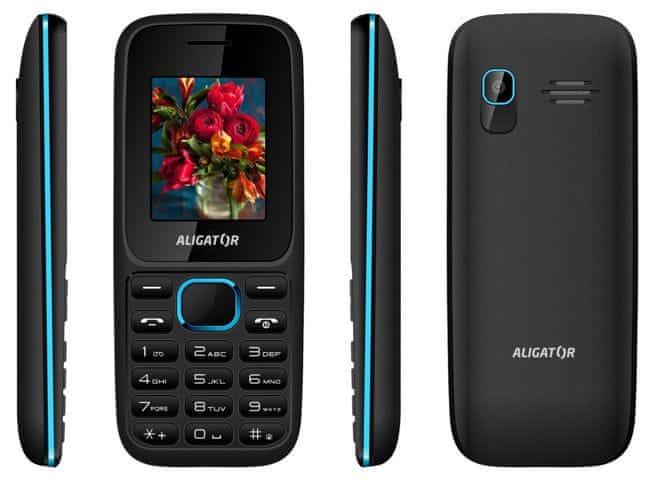 Aligator D200, Dual SIM, černo-modrý